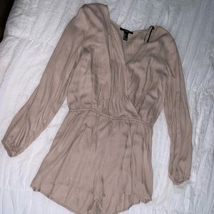 Long Sleeve Nude color Romper